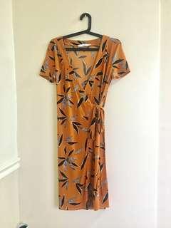 Mango Wrap Around Dress