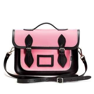 有艾薇兒的FU/英國ZATCHELS甜美黑粉色劍橋包五折中/英國代購