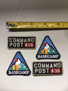 Iron On Patch - Basecamp and Command Post 35 Badge