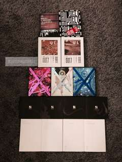 BTS MONSTA X GOT7 NCT unsealed albums