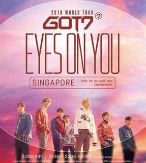 GOT7 eyes on you in SG VIP