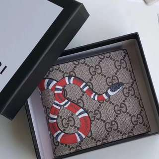 Jual gucci kingsnake gg supreme mens wallet authentic