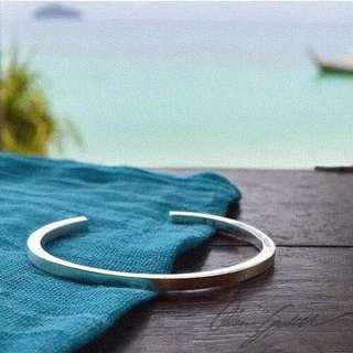 🚚 素面方形鋼手環 3.5*3.5mm 可微調手圍尺寸 男女皆可戴 情侶手環 鈦鋼