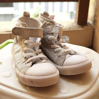 H&M silver hi-top sneakers / shoes