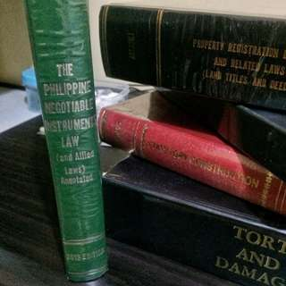 PHILIPPINE NEGOTIABLE INSTRUMENTS LAW & ALLIED LAWS  by Hector De Leon  (2013 ed)