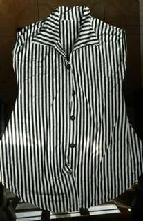 Striped long top