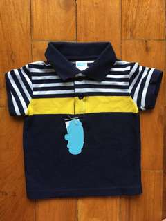 Crib Couture blue & yellow sports shirt