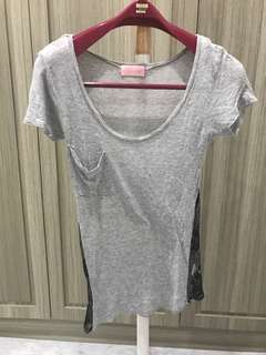 Golden Lace Top Grey