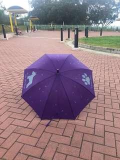Schnauzer 史納莎粉絲專屬紫色雨傘