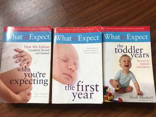 Set of 3 What to Expect books