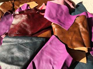 100% Leather pieces, offcuts & remnants 2kg @ $35  & free postage