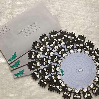 Sanrio Badtz Maru Letter Set
