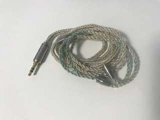 MMCX 8 core silver plated copper IEM upgrade cable