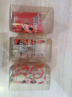 Coca Cola Coke Glass 3pcs