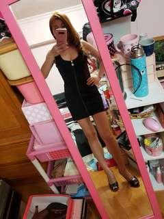 🚚 拉鍊無袖包臀修身洋裝