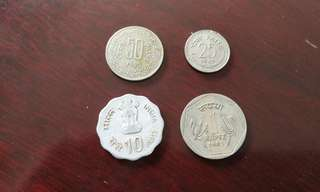 India vintage currency coin印度卢比币