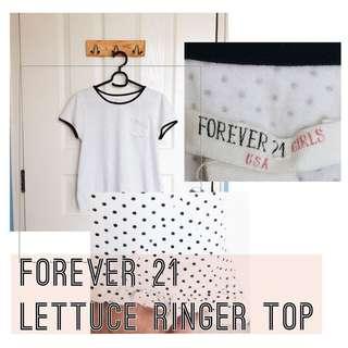 Forever 21 Lettuce Ringer Top