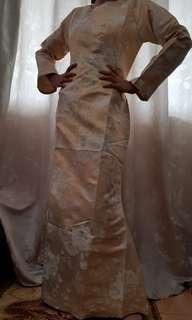 Gold Dress For Hari Raya (Muslim wear)