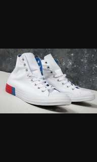 Convers hi white/red/blue