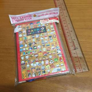 [100% New] 2011 Sanrio 50週年schedule book