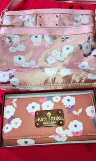 Floral bag and wallet