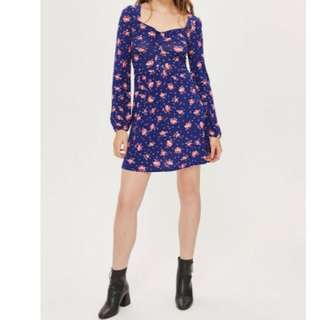 Topshop Sweetheart Neckline Dress