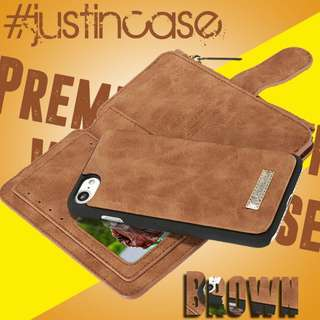 Caseme Premium Leather Wallet Case For Iphone 5,5s, 6, 6s, 6+, 6s+, 7, 7+, 8, 8+, X and Galaxy S8 and S8+