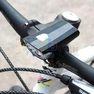 【貓頭鷹 雙燈 前燈】超輕 USB 充電式 生活 前燈 頭燈 警示燈 手電筒 自行車 (玩色單車)