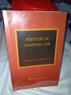 Pointers in Criminal Law by Sandoval