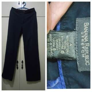 WA723 Banana Republic Stretch Dark Blue Pants (see pics for Measurements)