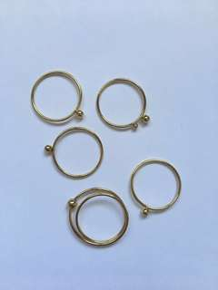Gold Rings Set