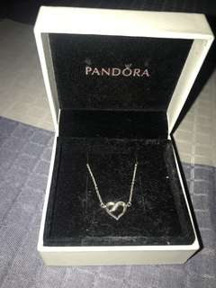 Pandora Necklace: Ribbon of Love