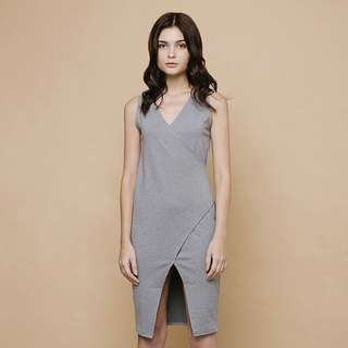 Preloved Cloth Inc Grey Midi Dress