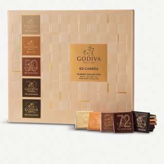 🍫😋Godiva Chocolate 60pcs Carres 4favs (new with box)