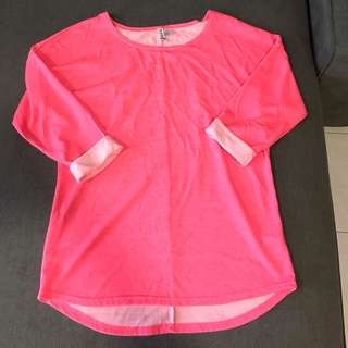 H&M (Divided series) bright pink top