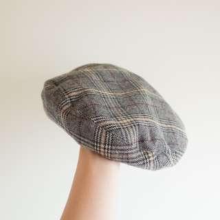 Pazzo 韓妞LOOK格紋貝蕾帽