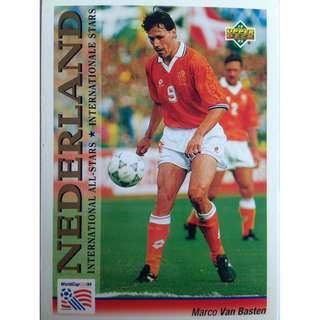Marco Van Basten (Netherlands) - Soccer Football Card #101 (International All-Stars) - 1993 Upper Deck World Cup USA '94 Preview Contenders