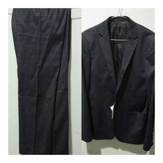 Blazer mens h&m 1 outfit ( DARK GREY)