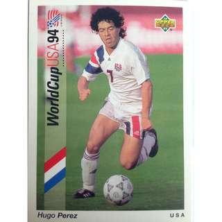 Hugo Perez (USA) - Soccer Football Card #100 - 1993 Upper Deck World Cup USA '94 Preview Contenders