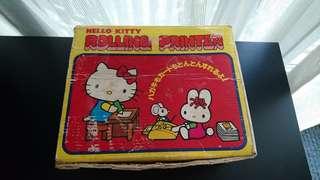 (古物) 極罕有 珍藏 1980日制 Sanrio Hello Kitty Rolling Printer 手動印刷機