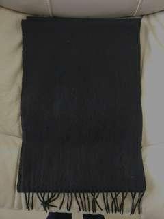 Yves Saint Laurent YSL 男女合用  全黑色 羊毛混Cashmere Scarf 頸巾