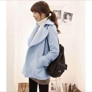 Blue winter coat jaket musim dingin