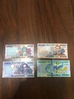 Sierra Leone 🇸🇱 current banknotes