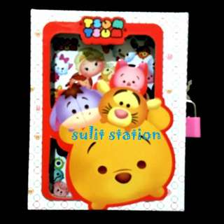 TSUM TSUM POOH SECRET DIARY with PADLOCK KEY