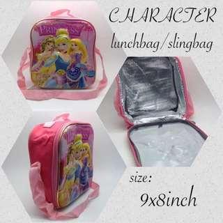 * CHARACTER * - slingabag - lunchbag size: 9x8inch  P260