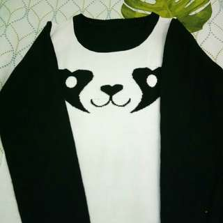 Panda sweater dress