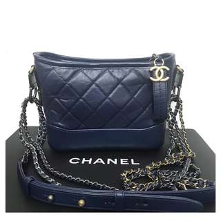 Authentic Chanel Small Gabrielle Navy Blue