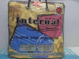 Bed Cover Bermotif ukuran Single