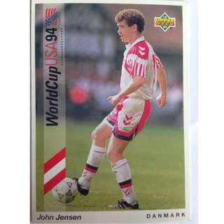 John Jensen (Denmark) - Soccer Football Card #96 - 1993 Upper Deck World Cup USA '94 Preview Contenders