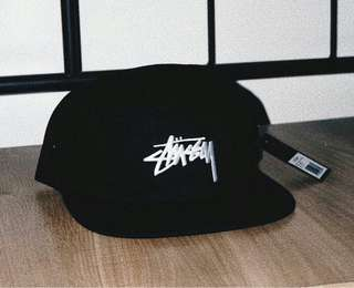 Stussy FA17 Camp Cap 5 panel // Black